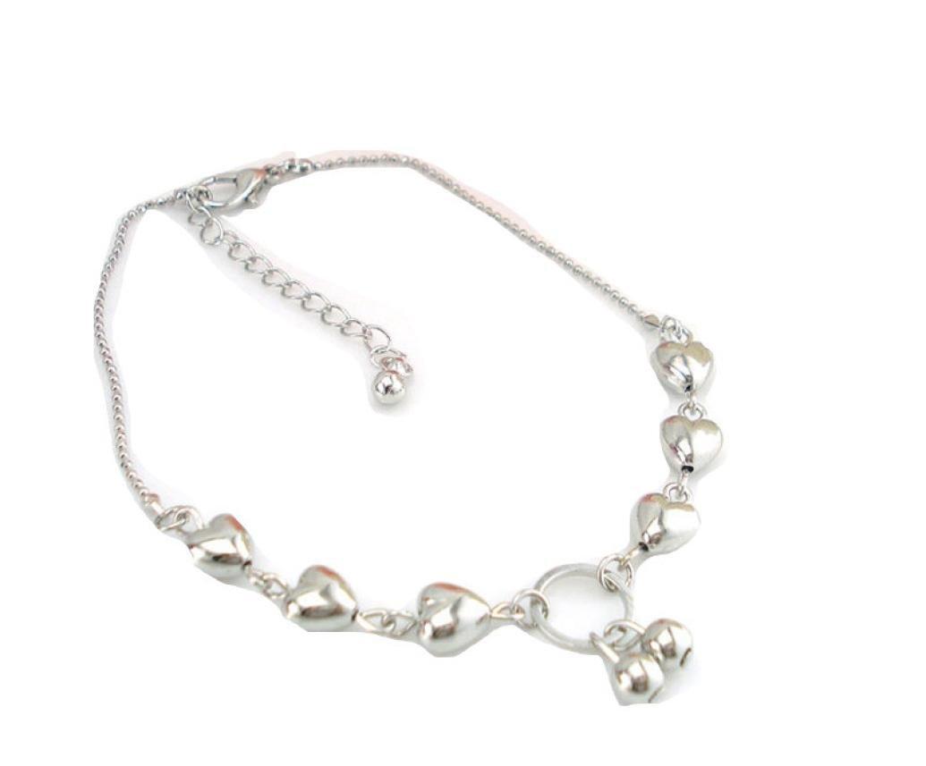 Leyorie Ankle Bracelet Heart Cherries Women Barefoot Sandal Beach Foot Jewelry Adjustable Chain Anklets