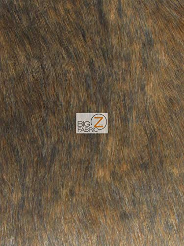 Faux Fake Fur Animal Short/Long Pile Coat Costume Fabric (Wolf Series) Sold by The Yard DIY Scarfs Rugs Accessories Fashion (Arabian Wolf)