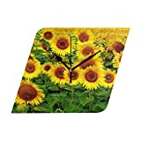 HangWang Wall Clock Sunflower Cool Silent Non Ticking Decorative Diamond Digital Clocks for Home/Office/School Clock