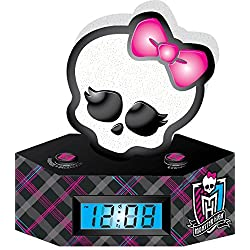 Ashton Sutton Monster High LCD Alarm Clock with Nightlight