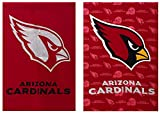 Cheap Team Sports America NFL Arizona Cardinals Two Sided Glitter Accented House Flag, Medium, Multicolored