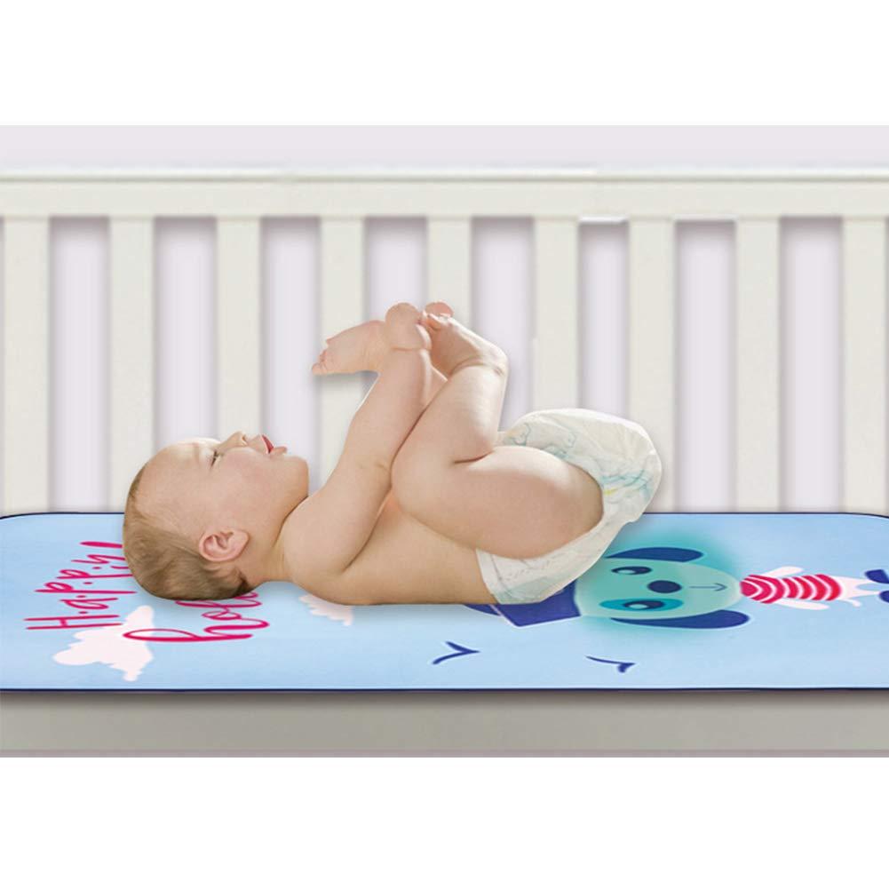 Bebé verano se refresca Mat perro bebé del patrón de la cama de seda transpirable hielo Cojín de dormir colchón de la cuna cojín de la orina de recién ...