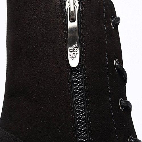 Chameau Femmes Classique 6 Yeux Martin Botte Couleur Noir Taille 38 M Eu