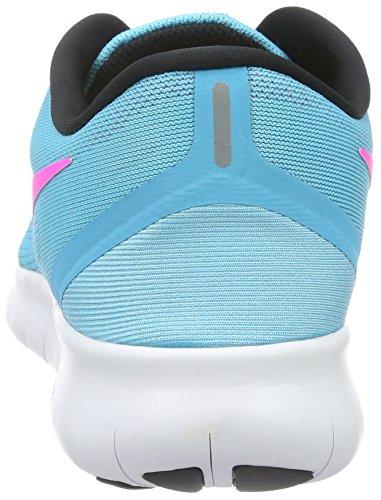 Nike Womens Free Rn Scarpa Da Corsa Blu Rosa Taglia 9