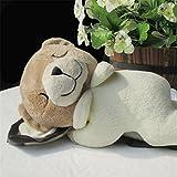 edealing(TM) Sleep Bear Toy Stuffed Cushion Animal Plush Cartoon Soft Pillow Toy For Children Baby -Beige