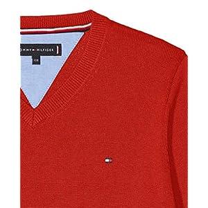 Tommy Hilfiger Boy's Essential Organic V-Neck Sweater Jumper