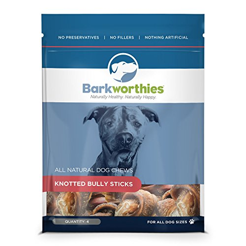 Cheap Barkworthies Pet Treat, Smaller Knotted Bones, 4-Pack