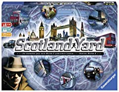 It's a covert game of cat and mouse set on the streets of London! Criminal mastermind Mister X has escaped Scotland Yard and it's up to you, the detectives, to catch him! Use your travel tickets to anticipate his movements, chasing him by tax...