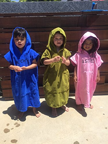 COR Board Racks Kids Towel Poncho - Light, Soft and Dries Fast | fits Ages 3-10 (Green) by Cor Surf by COR Board Racks (Image #5)