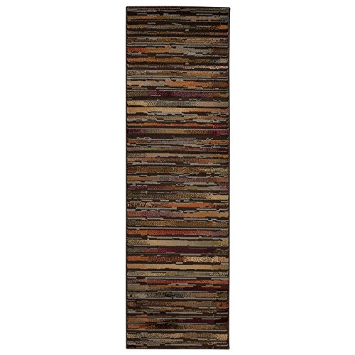 Rug Squared Mariposa Traditional Rug Runner (MAR15), 2-Feet 2-Inches by 7-Feet 3-Inches, (Cowhide Table Runners)
