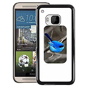 Red-Dwarf Colour Printing Bird Blue Minimalist Songbird Winter - cáscara Funda Case Caso de plástico para HTC One M9