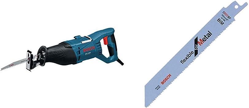 Bosch Professional GSA 1100 E - Sierra sable, 1100 W, profundidad corte 23 cm, en maletín + Bosch 2 608 656 014 Pack de 5 hojas de sierra sable S 922 BF (bimetálica), Set de 5 Piezas: Amazon.es: Bricolaje y herramientas