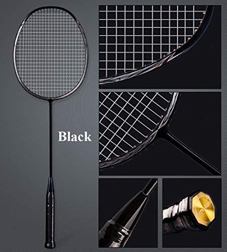 Senston N80 Graphite High-Grade Badminton Racquet,Professional Carbon Fiber Badminton Racket Included Black Blue Color Rackets 2 Carrying Bag by Senston (Image #2)