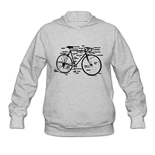 RUIZITS Women Round-Neck Normal Fit Racing Bike Hoodie Sweatshirt Clothing Good