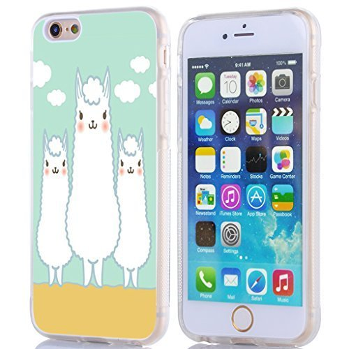 Iphone 6S Case Animal,MUQR Apple Iphone 6 & 6S Case Three White Stupid Alpacas