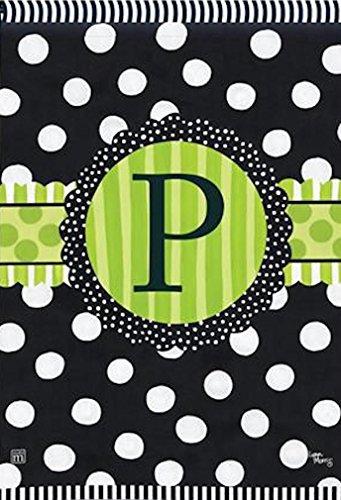 BreezeArt Letter P Monogram Frolic Garden Flag