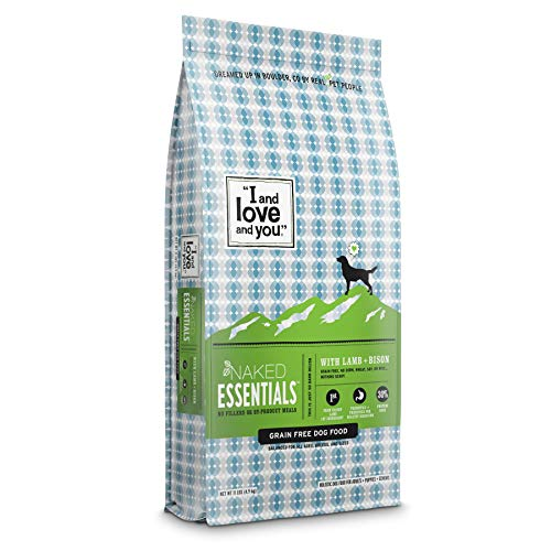 """I and love and you"" Naked Essentials Dry Dog Food - Natural Grain Free Kibble, Lamb + Bison, 11-Pound Bag"