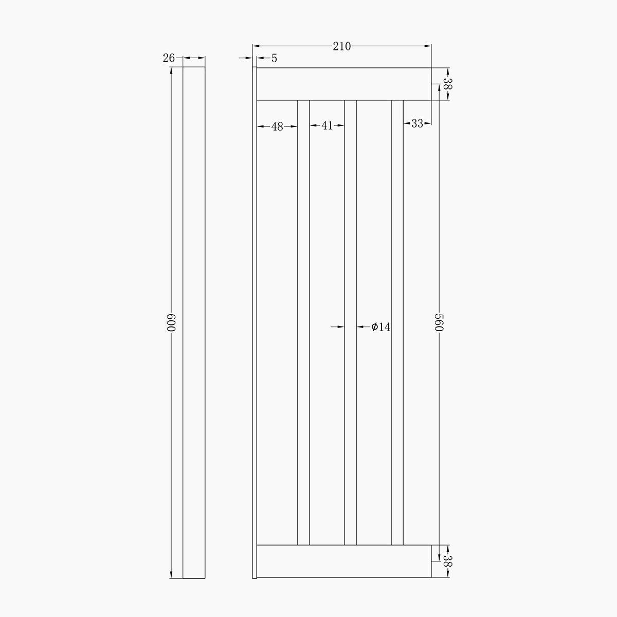 24 inches 4689 Chrome 60 cm ZUKKI Bathroom Towel Shelf Towel Rack Rail Single Layer SUS 201 Stainless Steel Towel Holder Wall Mounted Angle Shelf
