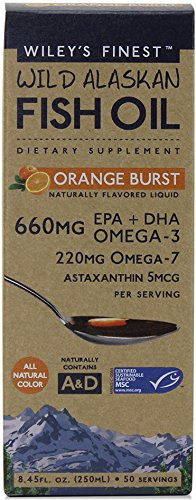Wiley s Finest  Wild Alaskan Fish Oil  Orange Burst  660 mg