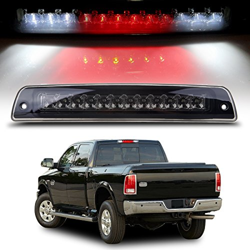 Pickup Led Third Brake Light - cciyu High Mount Brake Light Replacement fit for 1994-2001 Dodge Ram 1500 2500 3500 Pickup LED 3rd Brake Light Cargo Lamp (Smoke)