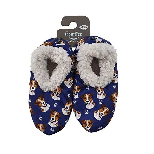 Jack Russell Terrier Super Soft Women's Slippers - One Size Fits Most - Cozy House Slippers - Non Skid Bottom - perfect for Jack Russell Terrier gifts 1