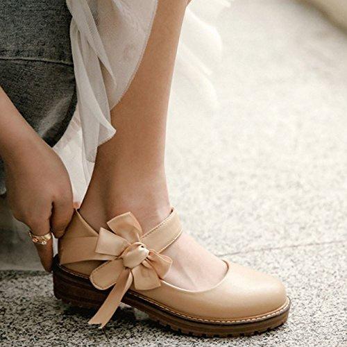 Brogue apricot Femmes 1 Zanpa Doux Chaussures wqTEHc8O