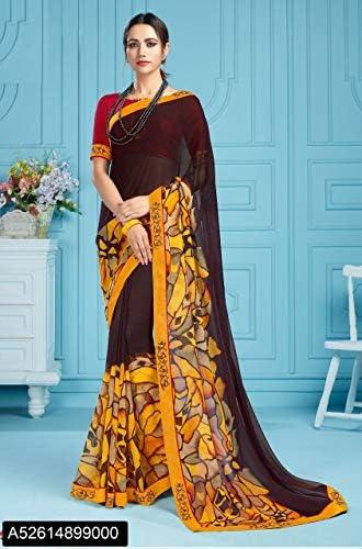 Designer New Casual Wear Georgette Saree Sari con Camicetta Piece of Traditional Ethnic Clothing Abito per Donna Trendy Indian 8128