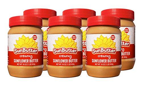 Creamy Soy Nut Butter - SunButter Original Creamy Sunflower Butter (Pack of 6)