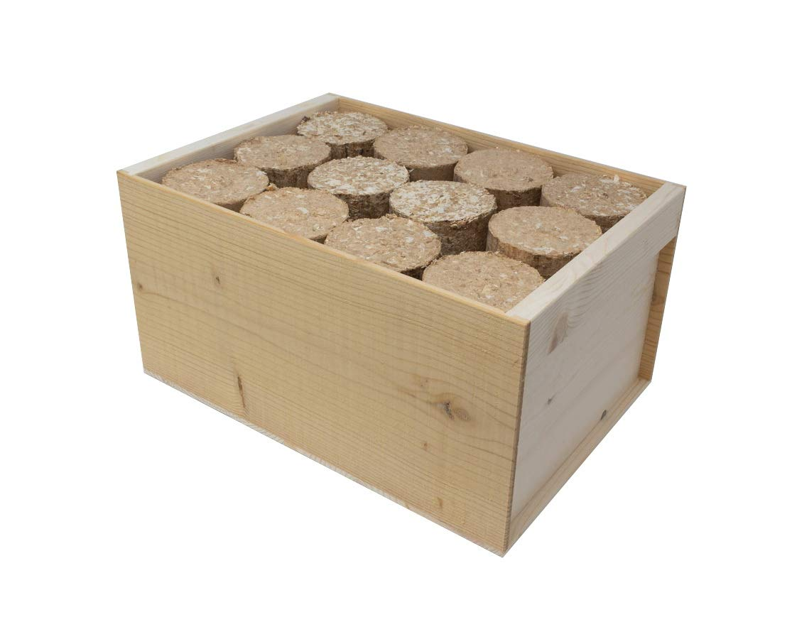 Bricchetti di legno naturale, lunga durata, prodotto e confezione 100% ecologico (8 KG) Möbli Robert