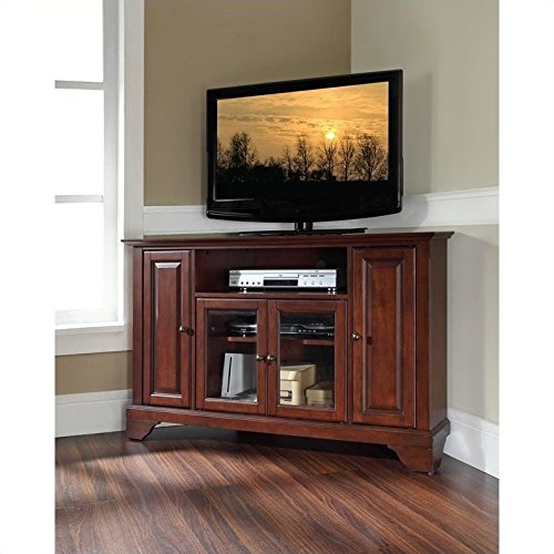 Crosley Furniture LaFayette 48-inch Corner TV Stand - Vintage Mahogany - Mahogany Tv Cabinets