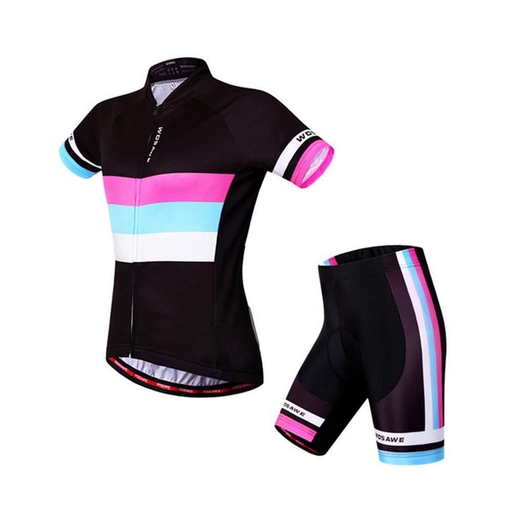 Liuhoue Frauen Fahrrad-Kurzarm-Anzug,Sommer Schlank Sport Anzug