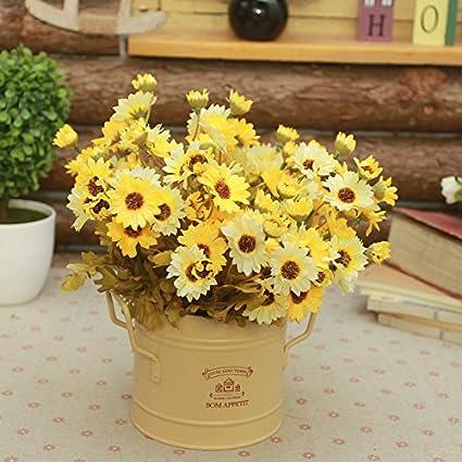 lpan Ear hierro flor cubo imitación Flores salón Juego de mesa decoración flores