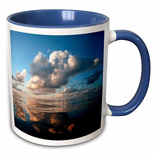 3dRose Danita Delimont - Oceans - Sunset clouds over the mid Atlantic, 400 miles south of Bermuda. - 15oz Two-Tone Blue Mug (mug_228460_11)