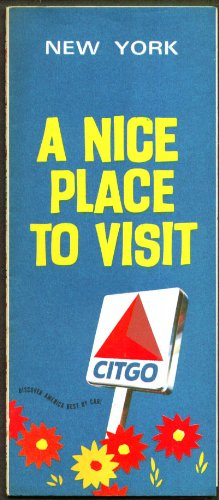 Citgo Gasoline Road Map New York State 1970