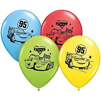 "Pioneer National Latex Disney Cars 6 Count 12"" Latex Balloons, Assorted"