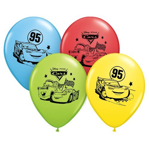Pioneer Party Group Officially Licensed Disney Pixar 12-Inch Latex Balloons, Cars Assorted Colors, 6-Count]()