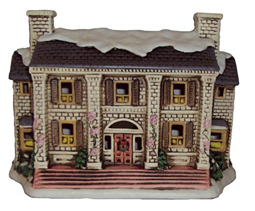 Lefton 1988 Geo Z Colonial Village The Major's Manor 06902 Lighted House Mansion