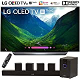 LG OLED65C8PUA 65'-Class C8 OLED 4K HDR AI Smart TV (2018 Model) with Sharper Image 5.1 Home Theater System w/Subwoofer, Sound Bar & Satellite Speakers