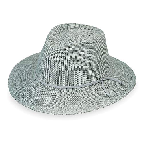 Wallaroo Hat Company Women's Victoria Fedora Sun Hat - Seafoam - UPF 50+