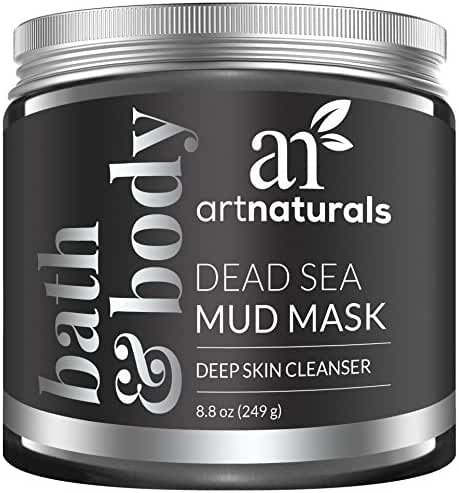 ArtNaturals Dead Sea Mud Mask for Face, Body/Hair, 100% Natural and Organic Deep Skin Cleanser, Clears Acne, Reduces Pores and Wrinkles, Ultimate Spa Quality, Mineral Infused Additive Free, 8.8 oz.