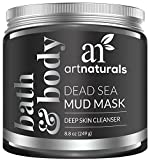 Dead Sea Mud Mask Benefits ArtNaturals Dead Sea Mud Mask for Face, Body/Hair, 100% Natural and Organic Deep Skin Cleanser, Clears Acne, Reduces Pores and Wrinkles, Ultimate Spa Quality, Mineral Infused Additive Free, 8.8 oz.