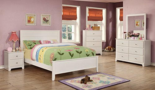 Coaster Home Furnishings 400761F Panel Bed, White