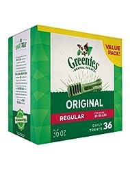 GREENIES Dental Dog Treats, Regular, Original Flavor, 36 Trea...