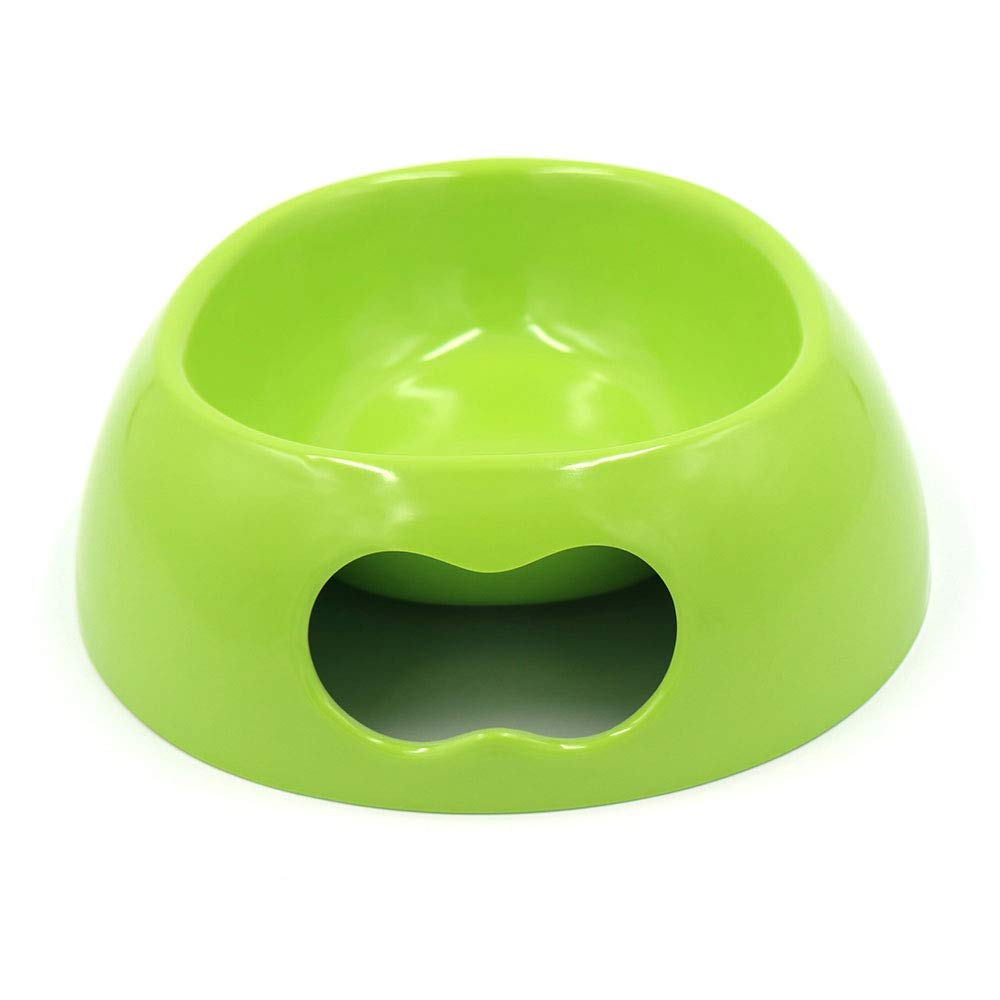 Green L Green L Pet Feeder and Water Dispenser Dog Feeder Cat Feeding Bowl 8 Sizes 7 colors 3 Size (color   Green, Size   L)