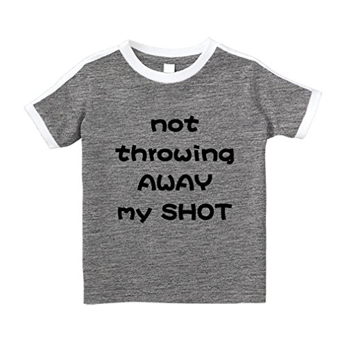 Cute Rascals Not Throwing Away My Shot Cotton Short Sleeve Crewneck Unisex Toddler T-Shirt Soccer Tee - Oxford Gray, 5/6T (Soccer Shot T-shirt)