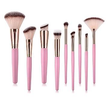 32b11ee8c4d6 Amazon.com: Jax & Olivia - Pink Rose Gold Kabuki 9 Piece ...