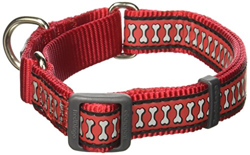 - Red Dingo Martingale Reflective Bones 20mm Choke Collar, Red, Medium/Large