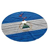 → This christmas tree skirt is suit for most christmas trees, especially the pencil christmas tree. A CUTE christmas tree skirt it is. → You can buy it as a perfect gift to your buddy or use it decorate your Xmas with your families. Features: → Color...