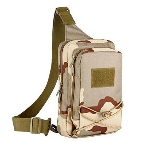 Hombres Camuflaje Al Aire Libre Casual Hombro Messenger Bag Breastplate Mochila Messenger Bag Regalo De Navidad Brown1