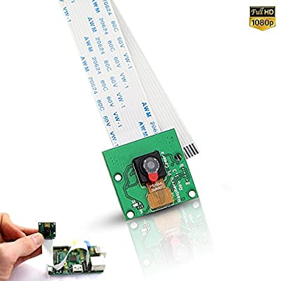 Raspberry Pi 3 2 model B B+ A+ Mini Camera Video Module 5MP 1080p OV5647 Sensor with 15 Pin FPC Cable + Pi Zero Ribbon Cable 15cm